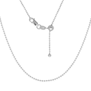 La Preciosa Sterling Silver Bead Adjustable Chain Necklace