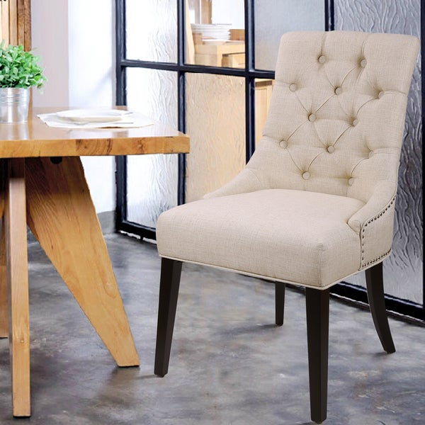 shop european style tufted side chair set of 2 free shipping