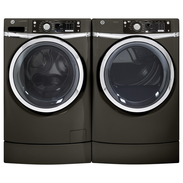 ge 4 5 cubic feet front load washer and electric dryer pair free shipping today overstock. Black Bedroom Furniture Sets. Home Design Ideas