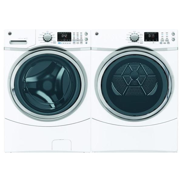 shop ge 4 3 cubic feet front load washer and dryer pair free shipping today. Black Bedroom Furniture Sets. Home Design Ideas