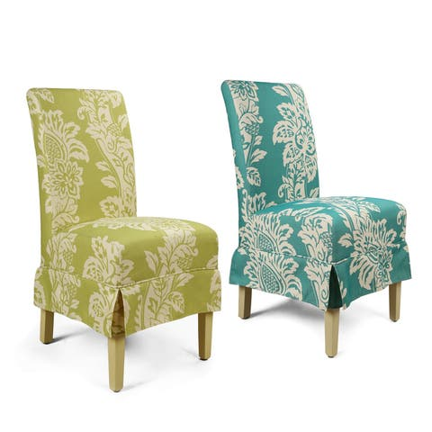 European Style White Flower Dining Chair (Set of 2)
