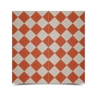 Pack of 12 Rabat Orange/ White Handmade Cement/ Granite Moroccan Tile 8-inch x 8-inch Floor/ Wall Tile (Morocco)
