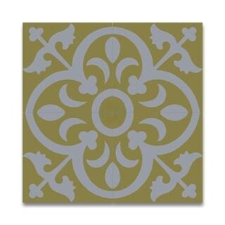 Nador White/ Yellow Handmade Cement/ Granite Moroccan Tile 8 x 8-inch Floor/ Wall Tile (Case of 12) (Morocco)