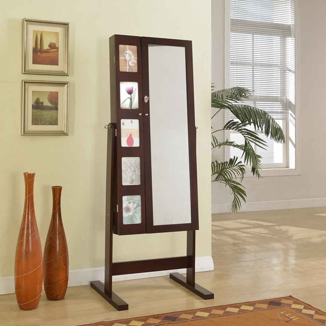 ARTIVA USA 63-Inches Deluxe Double Doors Expresso Jewerly...
