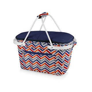 Picnic Time Vibe Collection Market Basket Collapsible Tote