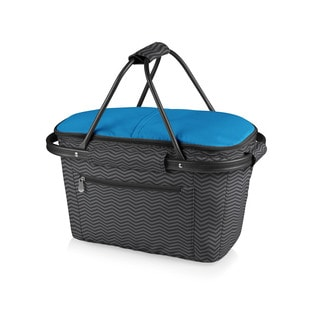 Picnic Time Waves Collection Market Basket Collapsible Tote
