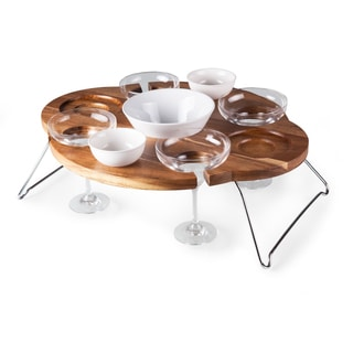 Legacy Mesarita Acacia Chip and Dip Serving Table