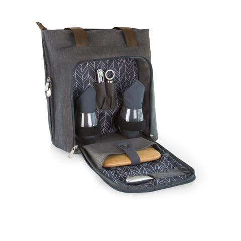 Picnic Time Grey Sonoma Wine and Cheese Tote