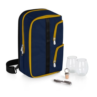 Picnic Time Tiburon Navy Zippered Wine Tote