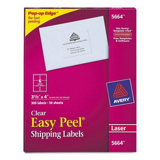 Avery Clear Easy Peel Laser Mailing Labels