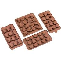 4-piece Chocoate Silicone Mold Set
