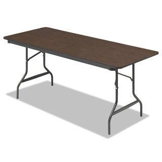 Iceberg Economy Walnut Wood Laminate Folding Table