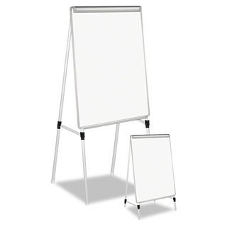 Universal White/Silver Adjustable White Board Easel