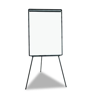 Universal White/Black Lightweight Tripod Style Dry Erase Easel