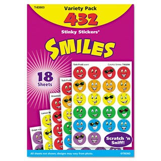 TREND Stinky Stickers Variety Pack (2 Packs of 432 Stickers)