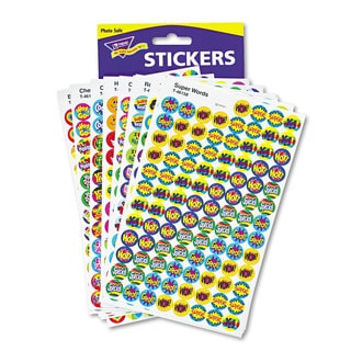 TREND SuperSpots and SuperShapes Sticker Variety Packs (3 Packs of 2,500)