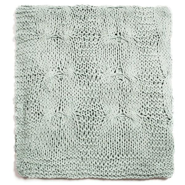 Michaela Aqua Knitted Throw