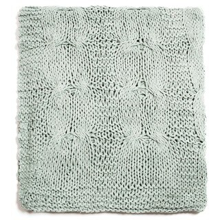 Michaela Aqua Knitted Throw
