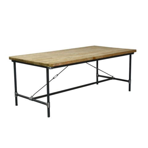 East At Main's Olathe Modern Tan Rectangle Dining Table