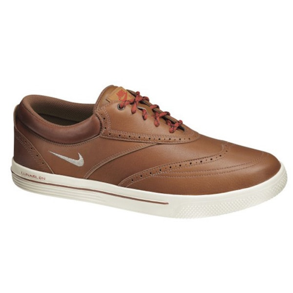 best authentic ec33b 9c7a3 Shop Nike Men s Lunar Swingtip Leather Brown  Sail Golf Shoes - Free  Shipping Today - Overstock - 10129000