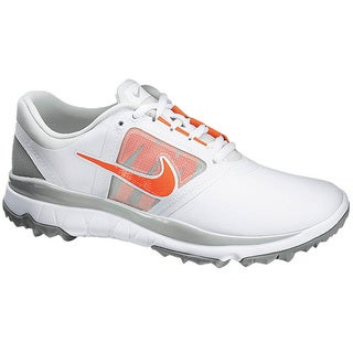 Nike Women's FI Impact White/ Grey/ Turf Orange Golf Shoes