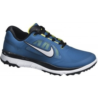 Nike Men's FI Impact Military Blue/ Venom Green/ White Golf Shoes