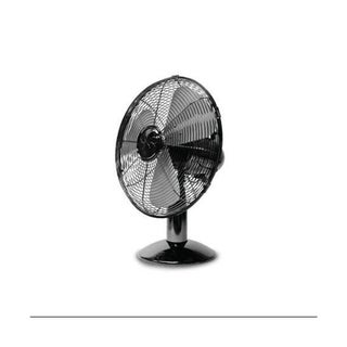 Soleus Air FT-30-A 12-Inch Retro Black Chrome Table Fan