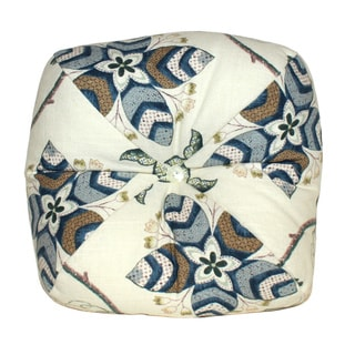 Jacobean Blue Apple Decorative 13-inch Throw Pillow