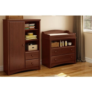 South Shore Sweet Morning Changing Table and Armoire with Drawers