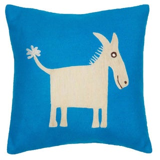 Donkey 12-inch Throw Pillow