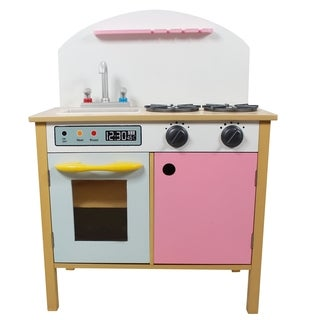 Teamson Kids Pink Play Kitchen with Dual Doors