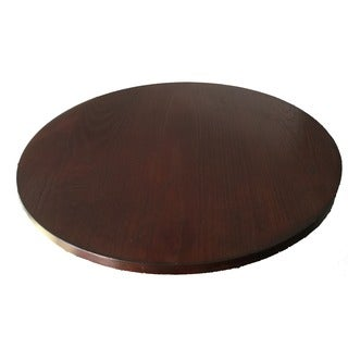 21-inch Diameter Brown Wood Lazy Susan