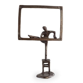 Danya B. Child Climbing out the Window Bronze Sculpture