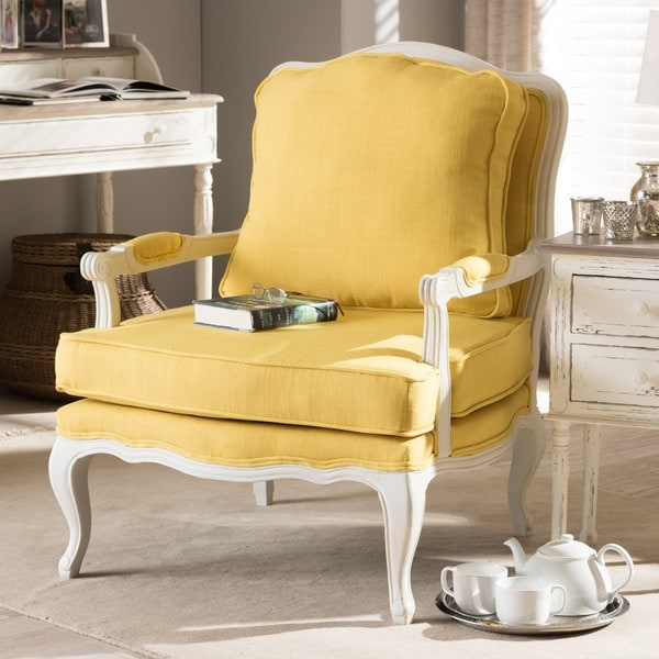 yellow accent chair canada traditional classic antiqued french living room target