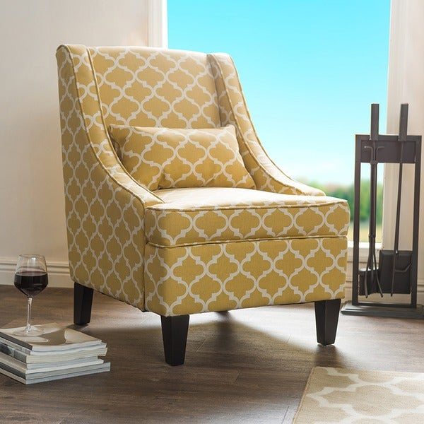 Shop Asplin Contemporary Yellow Patterned Fabric ...