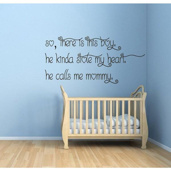 Inspirational Nursery Room Quote Vinyl Sticker Wall Art