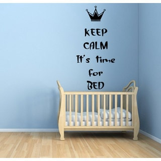 Keep Calm It's Time For Bed Vinyl Sticker Wall Art