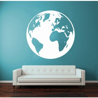 Earth Globe World Vinyl Sticker Wall Art