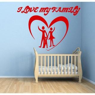 I Love My Family Vinyl Sticker Wall Art