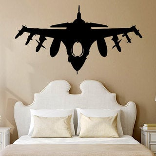 Military Plane Jet Bomber Vinyl Sticker Wall Art