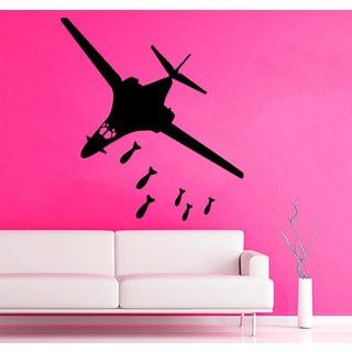 Military Plane Jet Bomber Vinyl Sticker Wall Art