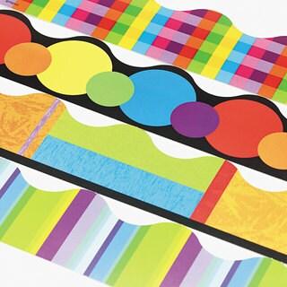 TREND Terrific Trimmers Color Collage Designs Border