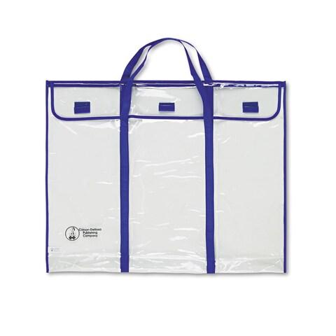 Carson-Dellosa Publishing Blue/Clear Bulletin Board Storage Bag