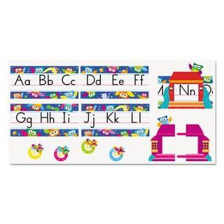 TREND Owl Stars Alphabet Line Bulletin Board Set