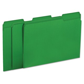 Universal One Green Colored File Folders