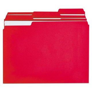 Universal One Red Colored File Folders
