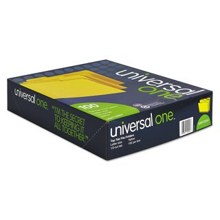 Universal One Yellow Colored File Folders
