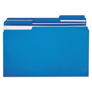 Universal One Blue Colored File Folders
