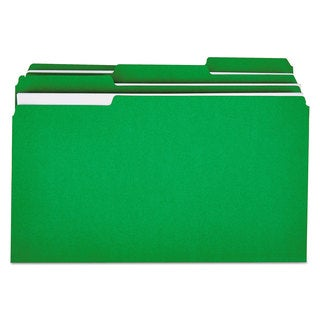 Universal One Bright Green Colored File Folder