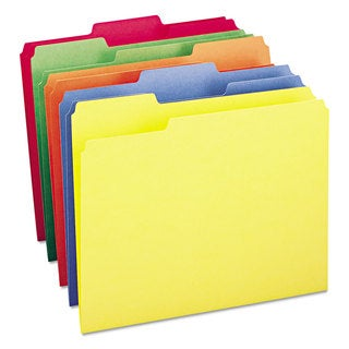 Smead Bright Assorted Colored File Folders